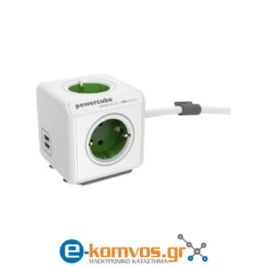 Allocacoc PowerCube Extended Usb Green
